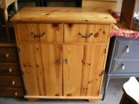 SOLID CHUNKY PINE CABINET/CUPBOARD