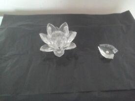 Two Swarovski Crystal Ornaments