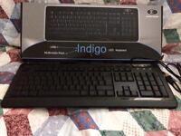 Indigo led keyboard