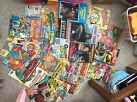 Loads of comics and some annuals