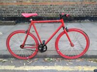 Red singlepseed/Fixie bike