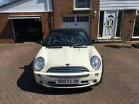 **FULL YEARS MOT**Mini one convertible 07 reg swap/px fiat 500