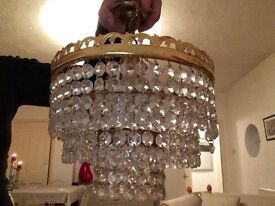 Three tier retro hanging chandelier