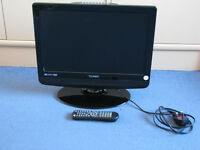 "19"" LCD HD television with integral DVD player."