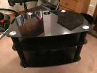 Black glass tv stand £15