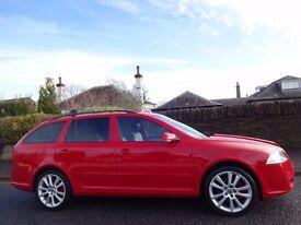 12 MONTH WARRANTY! (58) SKODA Octavia 2.0 TDi vRS 170 BHP Estate RED 1 Owner - Genuine 60,000 Miles