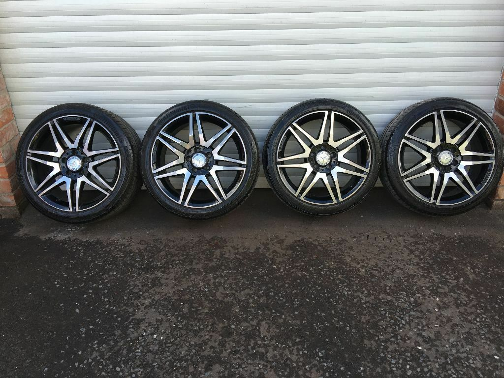 18 39 39 genuine amg black mercedes alloy wheels and tyres c for Mercedes benz c300 black rims