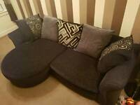 4 Seater Sofa, 2 Seater Sofa Bed and Foot Stool