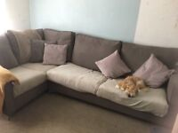 Large corner sofa bed in excellent condition