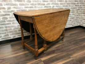 An Oak Drop Leaf Table