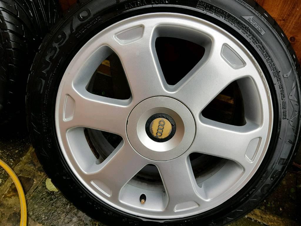 Audi genuine alloys avus 17s with tyres
