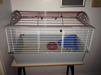 Animal cage with accessories