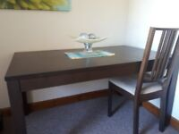 Lovely Ikea Wood Extending Dining Table & Four Matching Chairs