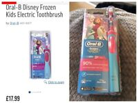 Brand new oral b stages power children's frozen electric toothbrush