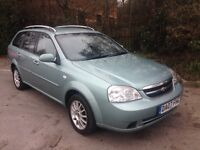 Sweetest ESTATE Available 07 Chevrolt Lacetti 1-6SX 70k, Mot 13 mth, S/history £1295 p/x all cards