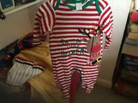 Christmas baby grows santa's Little helper brand new with tags