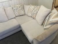 White fabric couch ***FREE***