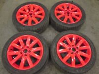 """2009 VW GOLF MK6 GTTDI 17"""" ALLOYS ALLOY WHEELS & TYRES 5X112 225/45/17 #2857"""