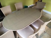 As New Dining Table & 6 chairs -bargain!!