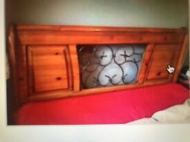 Stunning double Bed frame with iron Jali work.