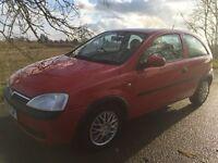 Vauxhall Corsa comfort 1.2, 51 (02) plate, mot july 2017, 90,000 miles, £500