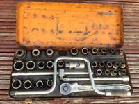 Metric, Whitworth/BSF and AF socket set