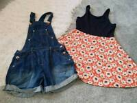 Next dress & dungarees