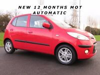 2010 HYUNDAI i10 1.3 ** AUTOMATIC ** F.S.H** NEW 12 MONTHS M.O.T **