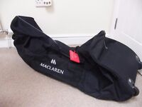 MACLAREN ZIP UP BUGGY / STROLLER CARRIER WITH HANDLES AND WHEELS - IDEAL FOR HOLIDAYS - OFFERS
