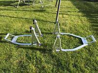 Paddock stands x2 Lightweight pro aluminium