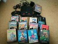 Sega mega drive and 14 games