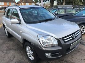 2006/06 KIA SPORTAGE 2.0 CRDI VGT XE 5DR SILVER, GREAT SPEC,STUNNING LOOKS,ECONOMICAL TO RUN
