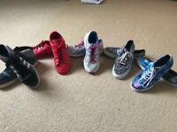 Five pairs of ladies/girls trainers size 5/5.5.