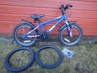 Frog 48 childs bike, suit age 4 - 5 years, 16 inch wheels, mud guards, 2 new spare tyres