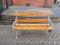 garden bench aluminium and pine
