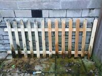 Wooden picket fence - 190cm by 90cm