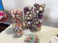 Christmas Baubles, a variety of different coloured and sized Baubles.