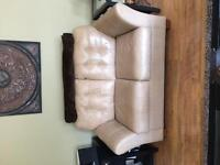 Used love seats, chair and foot stool
