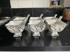 Turkish soups dishes desserts bowls spoons set