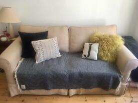 3 Person Beige Sofa Bed