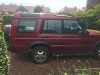 FOR SALE SPARES AND REPAIRS RED AUTOMATIC LANDROVER DISCOVERY
