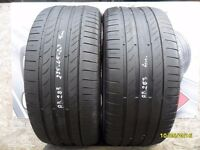 AB283. 2X 275/45/20 110Y XL 1X5MM 1X4MM CONTINENTAL SPORT CONTACT5 - USED TYRES