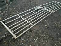 Pair of galvanised 8ft field paddock gates with centre hood total opening is 16ft tractor