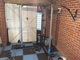 Cable Crossover Machine - nearly brand new & EZ Bar