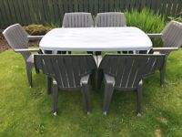 RECTANGLE PATIO TABLE WITH SIX CHAIRS...