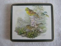 6 Melamine Table Mats - Birds