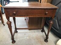 Solid oak side table FREE DELIVERY PLYMOUTH AREA
