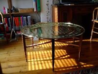 Attractive Moroccan solid brass table