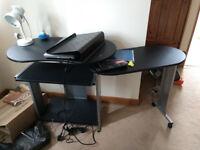 Flexible computer table or study desk