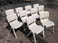 10 x plastic stacking chairs